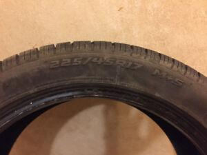 Cooper 225/45R17 M+S tires