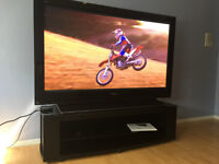 """PANASONIC 65"""" HIGH DEF PLASMA TV WITH CABINET - AS GOOD AS NEW"""