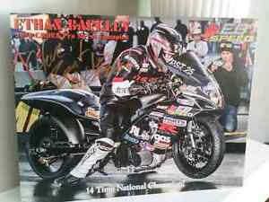 Authentic motorcycle racers package