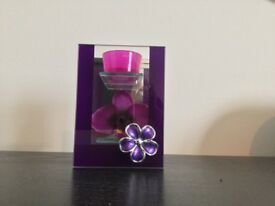 Orchid Design Tealight Candle Holder - Never Used.