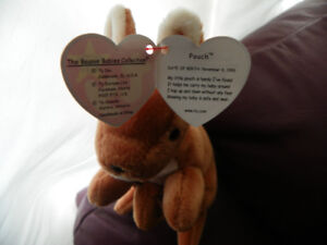 ORIGINAL TY BEANIE BABIES WITH TAGS FROM 1990'S - 2000