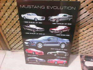 Ford Mustang Evolution Wood Picture London Ontario image 3