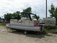 1984 18ft Pontoon Boat, 85hp Motor and Trailer