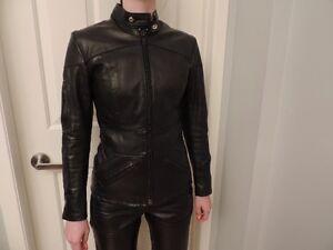 Vêtements de moto en cuir pour dame