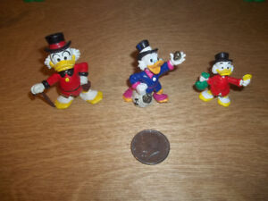 3 Walt Disney  Scrooge Mc Duck figurines de Oncle Picsou
