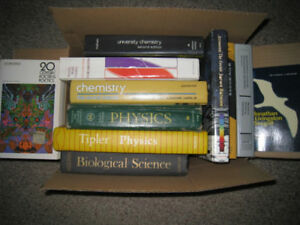 Old/Used Textbooks – Eng, Phys, Chem, Stats, & Apply Math