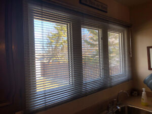 Silver grey metal venetian blind