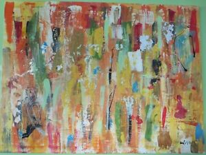 Bright abstract painting for sale by artist