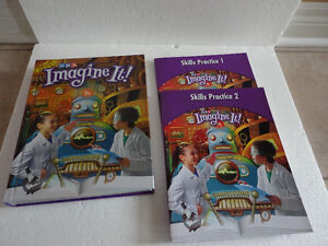 SRA Imagine It 4th grade textbook & skills practice 1 and 2 work London Ontario image 1