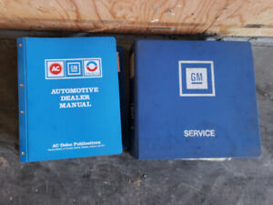 1983 and 1986 GMC chevrolette dealership service binders