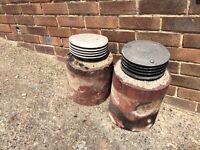 2 x Chimney Pots