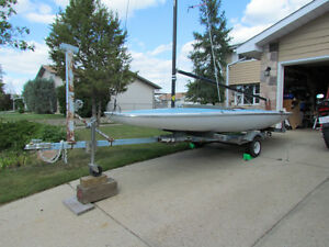 MC Scow sailboat with trailer for sale.