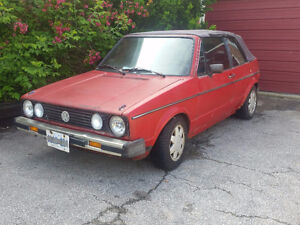 1986 Volkswagen Golf Convertible