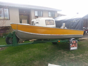 Deep Hull Aluminum Boat 14ft with trailer