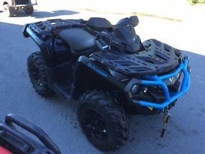 2016 Can-Am Outlander XT 1000R Matte Black  Octane Blue