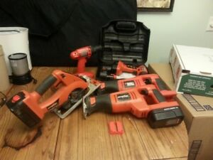 Assorted Black and Decker Power Tools