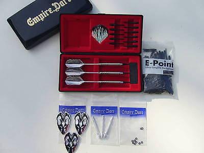 EMPIRE Dart Set Dartpfeile Silver Arrow 18g. + Box und Zubehör (18 Pfeile)
