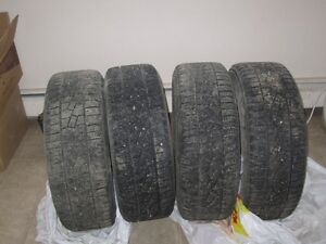 "Set of 4 Izen Studded Winter Tires on Rims-P225/60R16"" Regina Regina Area image 1"