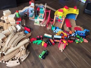 Thomas the Train track and trains