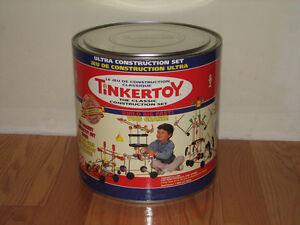 TINKERTOY  ULTRA  WOOD CONSTRUCTION  SET !!!