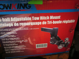 adjustable tow hitch mount with 3 balls