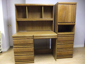 Desk And Hutch With Side Pier Unit