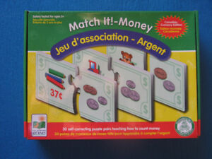 Match It! - Money Self Correcting Puzzle Pairs