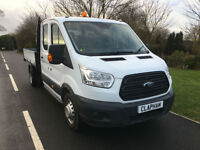 2015 15 FORD TRANSIT TIPPER 350 L3 2.2CDTI 125BHP EURO 5 DOUBLE CAB 1 OWNER