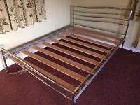 Metal double bed frame - FREE