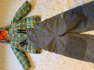 Boy snowsuit set with Geox boots and mittens