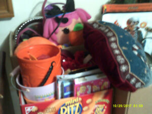 Boxes Full of Holiday Display Items   (xmas, Easter, Hallowe'en