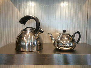 Stainless Steel Tea Kettle and Tea Pot