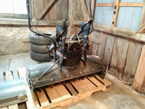 Souffleuse Snow plow to attach to lawn tractor