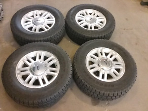 Discoverer mud and snow tires on ford rims
