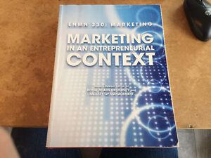ENMN 330 Marketing in an Entrepreneurial Context