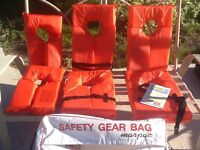 Marpac safety gear bag c/w 6 lifejackets will sell separate!