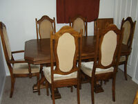 Sturdy, solid wood (Oak) table/chair set for sale... plus more..