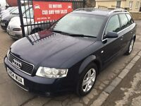 AUDI A4 1.9 TDI SE 130 AUTOMATIC (04) MOT MARCH 17 , FULL LEATHER £1995