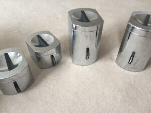 Vintage retro chrome canister set for the kitchen