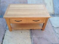 new solid oak coffee table