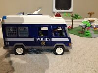 Playmobil police van and quad
