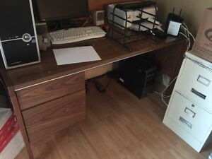 Desk and File Cabnet