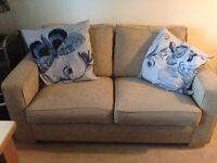 Matching pull out bed double sofa and reclining armchair