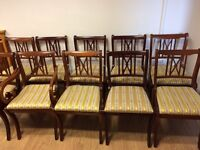 Set of 10 regency style chairs