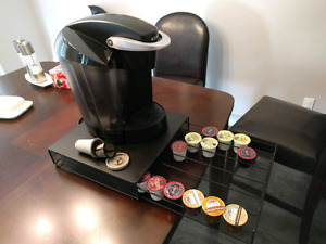 Kurig plus stand and a few assorted k-cups $50