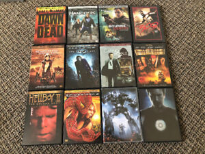 Assortment of DVDs and DVD cases