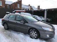 PEUGEOT 407 SW 1.6HDi FAP (2010 10 REG) S + DIESEL + ESTATE + 1 COUNCIL OWNER