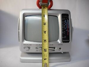 "5"" Portable Black & White Television with AM /FM Radio"