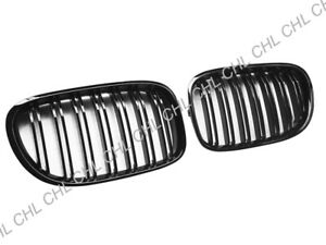 M Style Gloss Black Front Grille Grill For 2009-2015 BMW F01 F02 740i 750i 760i