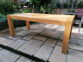 Large beech dining table seats 6-8
